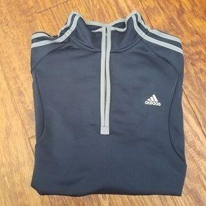 Adidas Half zip navy Pullover sz M